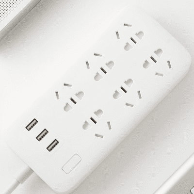 Удлинитель Xiaomi Mi Power Strip  (6 розеток + 3 USB-port) белый