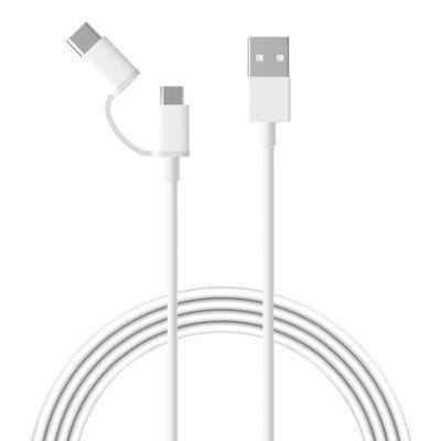 Кабель Xiaomi USB  на microUSB / Type-C 1 m.  ( Белый)