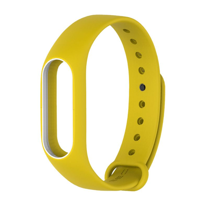 Сменный ремешок для фитнес-браслета  Xiaomi Mi Band 2 (Желтый/ Белый)